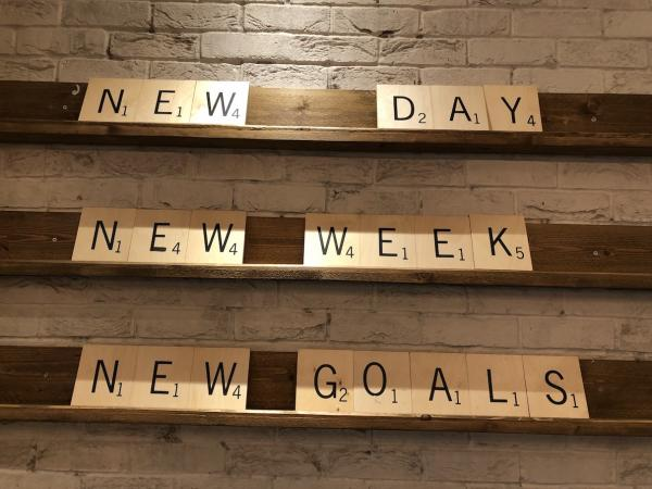 management blog - new day, new week, new goals