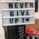 management blog - never give up